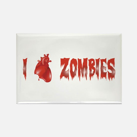 Zombie Love Rectangle Magnet (10 pack)