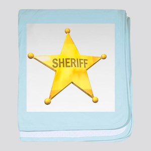 Sheriff Badge Infant Blanket