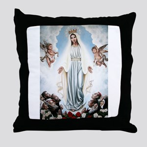 Queen of Croatia Throw Pillow