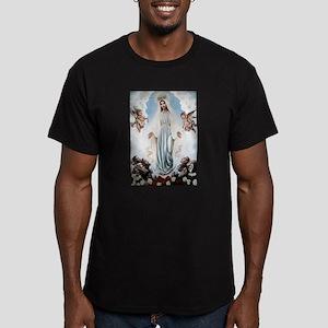 Queen of Croatia Men's Fitted T-Shirt (dark)
