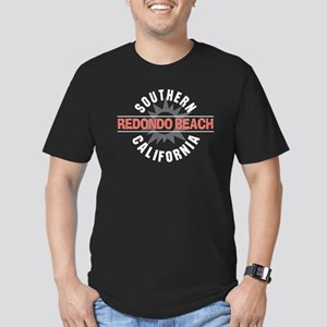 Redondo Beach California Men's Fitted T-Shirt (dar