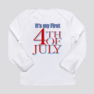 Baby's First Fourth of July Long Sleeve Infant T-S