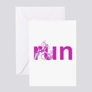 run Greeting Card