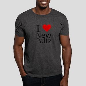 I Heart New Paltz Modern Heart Dark T-Shirt