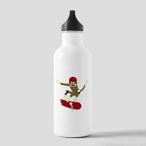 Sock Monkey Skater Stainless Water Bottle 1.0L