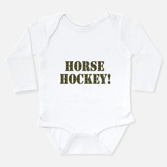 Horse Hockey Long Sleeve Infant Bodysuit