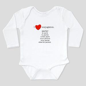 I love conjugation Long Sleeve Infant Bodysuit