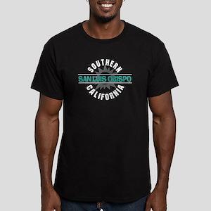 San Luis Obispo CA Men's Fitted T-Shirt (dark)