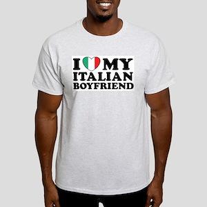 I Love My Italian Boyfriend Ash Grey T-Shirt