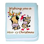 Cow Christmas Infant Blanket