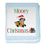 Mooey Christmas Infant Blanket