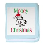 Mooey Christmas Infant Blanket
