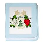 Peace Love Joy Snowman baby blanket