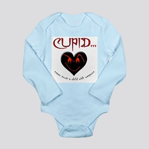 Don't Trust Cupid Long Sleeve Infant Bodysuit