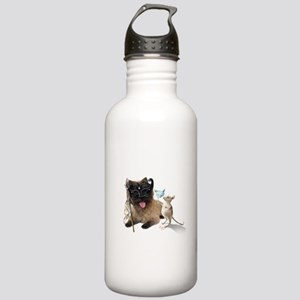 Cairn Terrier with Rat Stainless Water Bottle 1.0L