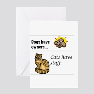 Cats Have Staff Greeting Card