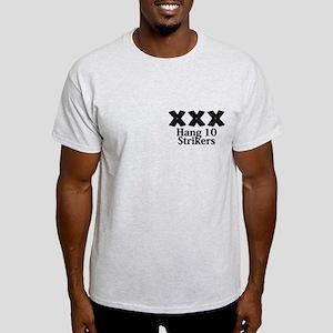 Hang 10 Strikers Logo 12 Light T-Shirt Design Fron
