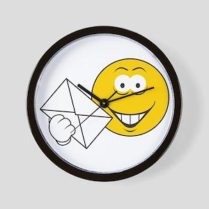 Postal Smiley Face Wall Clock