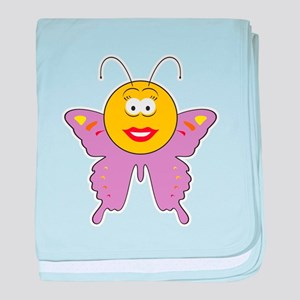 Butterfly Smiley Face Infant Blanket