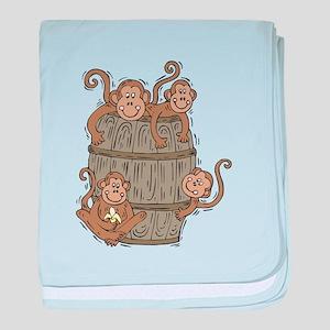 Cute Barrel of Monkeys Infant Blanket