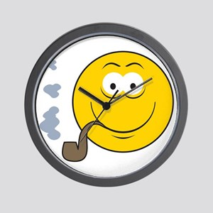 Pipe Smoking Smiley Face Wall Clock