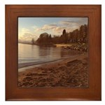 English Bay, Vancouver BC Framed Tile