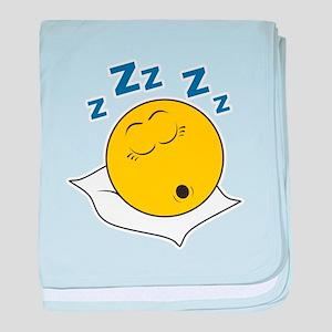 Sleeping/Snoring Smiley Face Infant Blanket