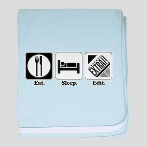 Eat. Sleep. Edit. (Newspaper Infant Blanket