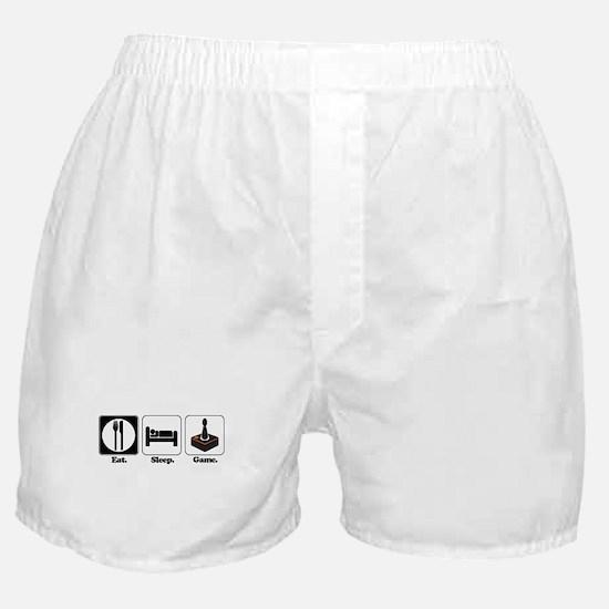 Eat. Sleep. Game. (Gamer/Vide Boxer Shorts