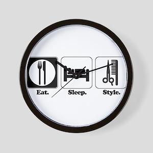 Eat. Sleep. Style. (Hair) Wall Clock