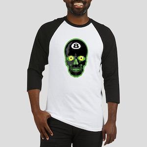 Green Eight Ball Skull Baseball Jersey