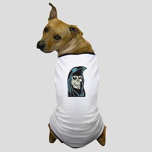 Creepy Grim Reaper Dog T-Shirt