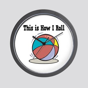 How I Roll (Beach Ball) Wall Clock
