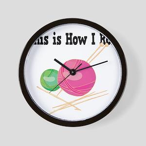 How I Roll (Yarn) Wall Clock