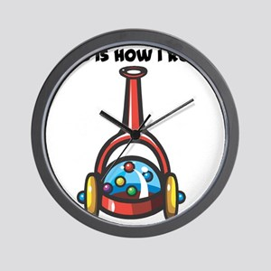 How I Roll (Popping Push Toy) Wall Clock