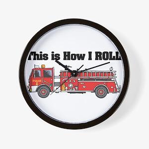 How I Roll (Fire Engine/Truck Wall Clock