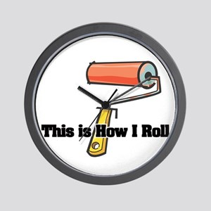 How I Roll (Paint Roller) Wall Clock