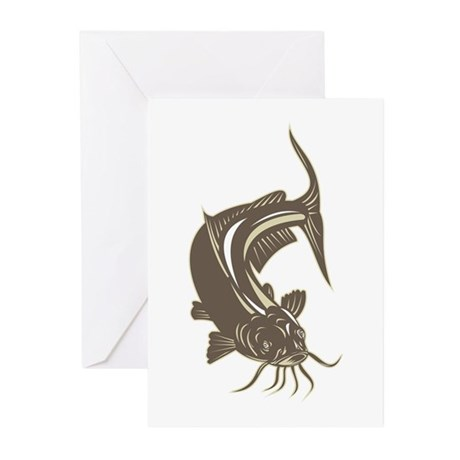 catfish Greeting Cards (Pk of 10)