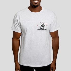 Bowl Movement Logo 2 Light T-Shirt Design Front Po