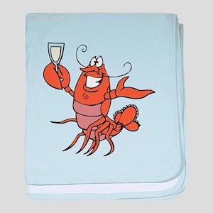 Toasting Wine Lobster Infant Blanket