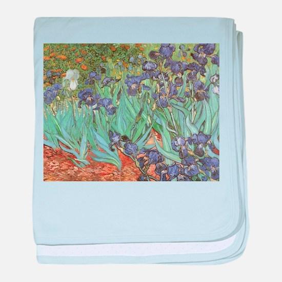 Van Gogh Irises baby blanket