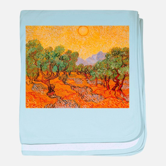 Van Gogh Olive Trees Yellow Sky And Sun baby blank