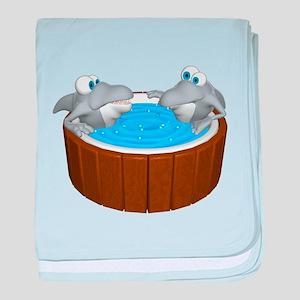 Sharks in a Hot Tub Infant Blanket