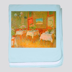 Van Gogh Interior of a Restaurant baby blanket