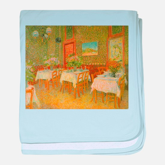 Van Gogh Interior of a Restaurant baby blanket