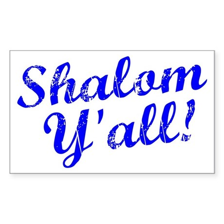 Shalom, Y'all! Sticker (Rectangle 10 pk)