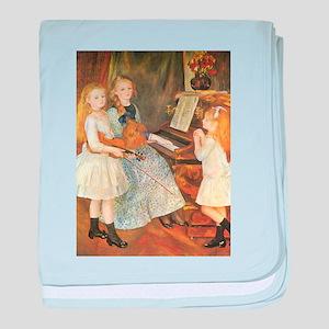 Renoir Daughters of Catulle Mendes baby blanket