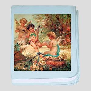 Victorian Angels by Zatzka baby blanket