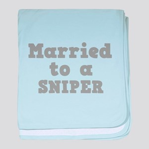 Married to a Sniper Infant Blanket
