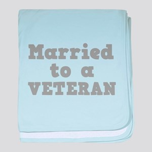 Married to a Veteran Infant Blanket
